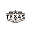 vintage retro western country emblem texas logo vector image