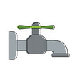 water tap isolated vector image