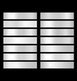white gradient platinum silver chrome aluminum vector image vector image