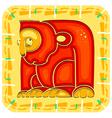 year monkey chinese horoscope animal sign vector image vector image