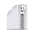 zip file icon vector image