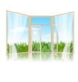 Background with an open window vector image