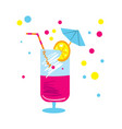 party cocktail isolated icon vector image
