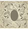 Easter brown card vector image