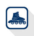 inline roller flat icon vector image