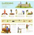 gardening infographics template vector image