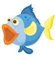 a blue fish vector image