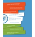 abstract flag india infographic brochure vector image
