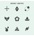 Abstract geometric logo set vector image vector image