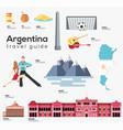 argentina travel guide template set landmarks vector image vector image