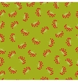 Autumn berries seamless pattern Big bunches of vector image vector image