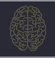 brain front dots silhouette vector image vector image