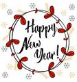 Christmas Happy New Year modern calligraphy Hand vector image vector image