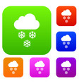 cloud and snowflakes set collection vector image vector image
