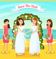 colored wedding people orthogonal composition vector image
