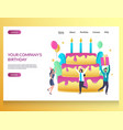 company birthday website landing page vector image vector image