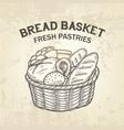 composition of bread basket sketch vector image