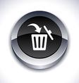 Delete 3d button vector image vector image