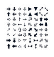 Different arrows pixel icons isolated collection