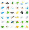 disaster icons set isometric style vector image vector image