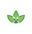 eco restaurant logo vector image