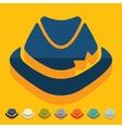Flat design hat vector image vector image
