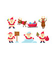 flat set colorful christmas icons funny vector image