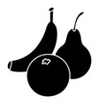 fruits food icon simple style vector image