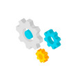 gear wheels isometric object vector image vector image