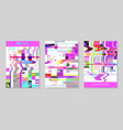 glitch futuristic posters covers set design vector image vector image