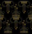 gold crown seamless pattern vector image
