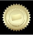 Gold star label Pennsylvania vector image vector image