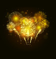 golden firework vector image vector image
