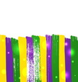 Grunge mardi gras background vector image vector image