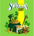 happy st patricks day text greeting card patrick vector image vector image