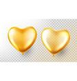 heart balloon transparent 3d realistic vector image