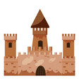 historical castle icon cartoon style vector image