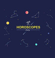 horoscope astrology zodiac sign minimal outline vector image