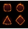 Hot fire flame frame set vector image vector image