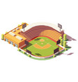 isometric low poly baseball park vector image vector image