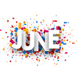 June sign vector image vector image