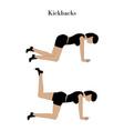 kickbacks exercise workout vector image vector image