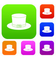 leprechaun hat set color collection vector image vector image