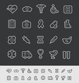 Medical Icons Black Line vector image vector image
