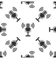 microphone isolated icon seamless pattern vector image