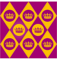 Modern diamond pattern with royal crown vector image vector image