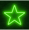 neon glowing star sign can be used as a text vector image vector image