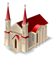 Old church building vector image vector image