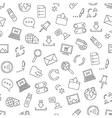 Pattern communication black icons vector image