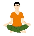Persons in pose yoga vector image vector image